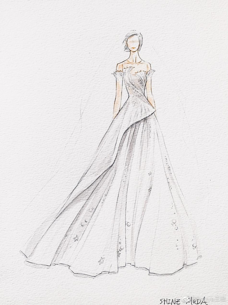 唐艺昕婚纱设计图